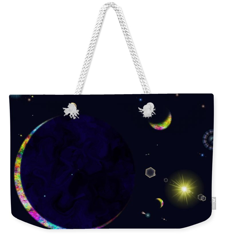 Weekender Tote Bag featuring the digital art Star Shine by Tim Allen
