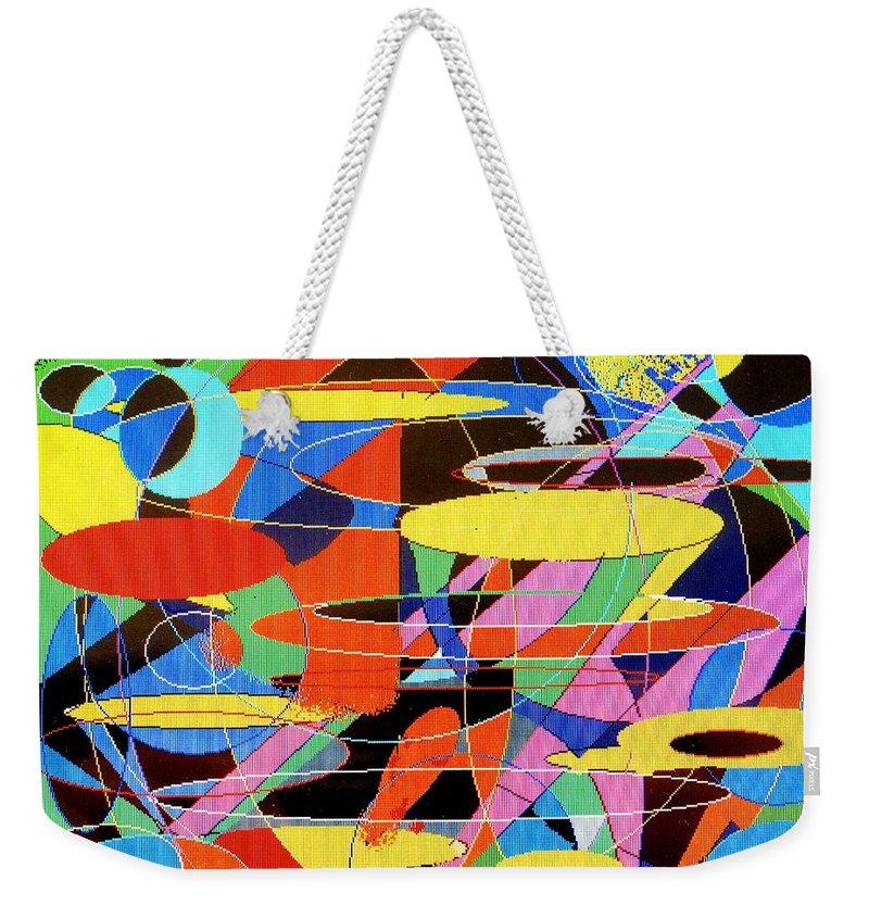 Abstract Weekender Tote Bag featuring the digital art Star Wars by Ian MacDonald