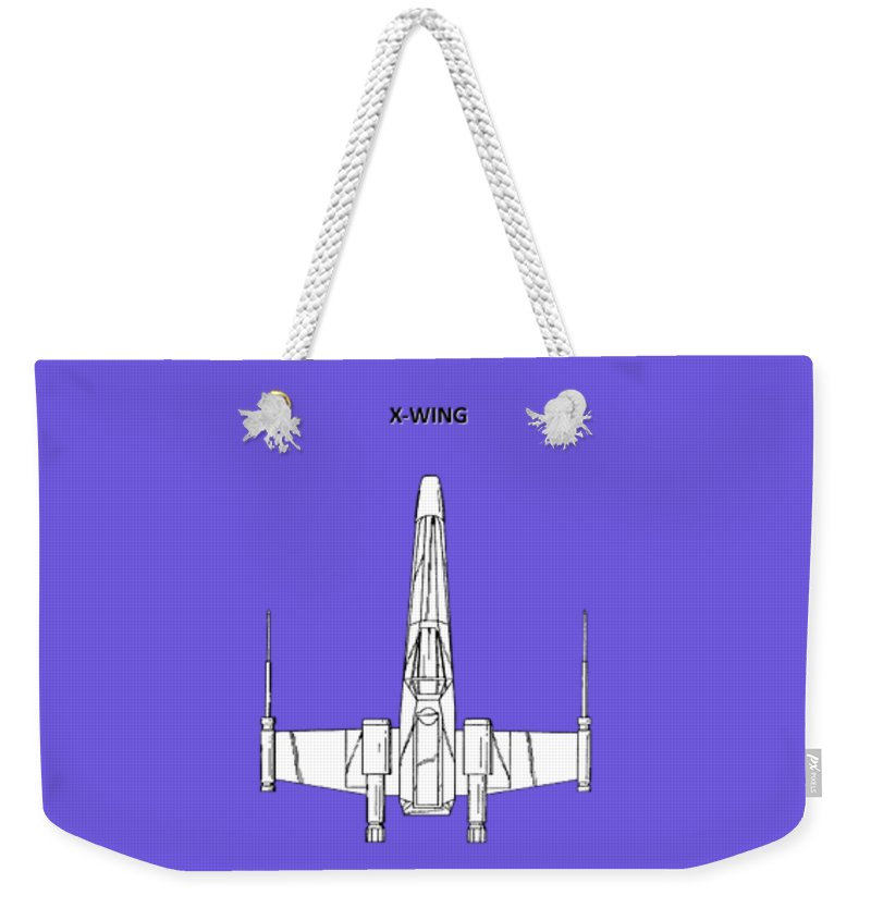 X-wing Weekender Tote Bag featuring the photograph Star Wars X-wing Fighter by Mark Rogan