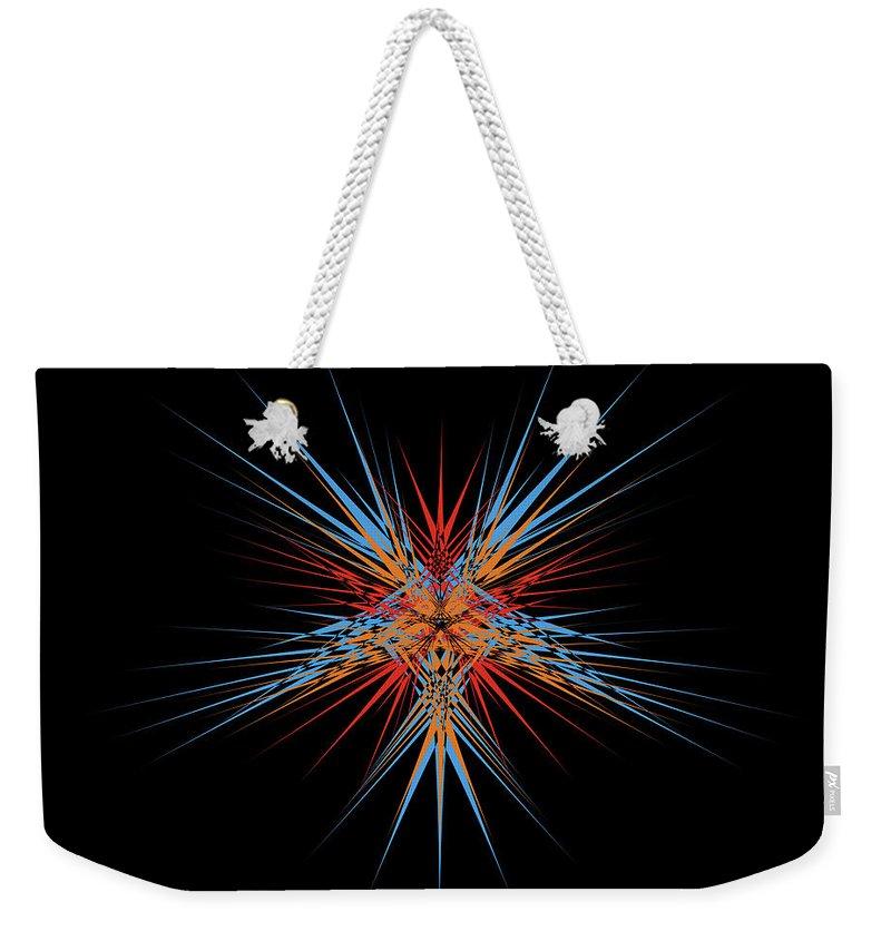 Digitalimage Weekender Tote Bag featuring the digital art Starburst by Tony Svensson