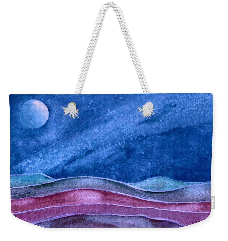 Landscape Weekender Tote Bag featuring the painting Stardust by Brenda Owen