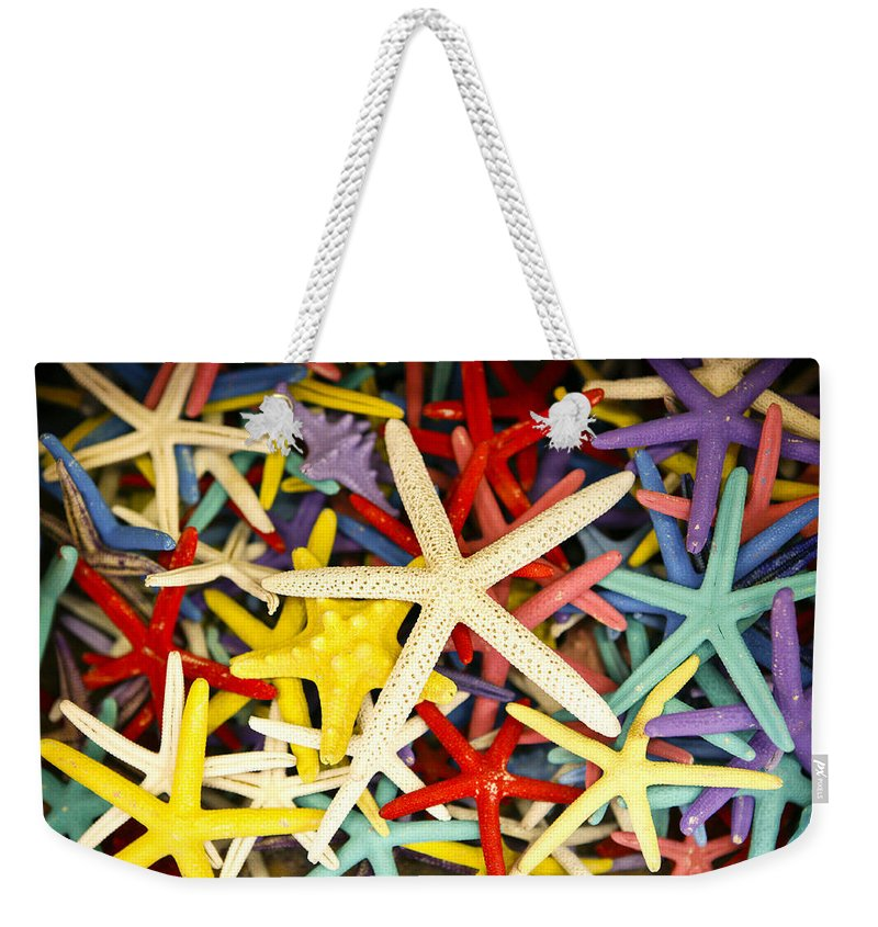 Starfish Weekender Tote Bag featuring the photograph Starfish Dressed Up by Marilyn Hunt
