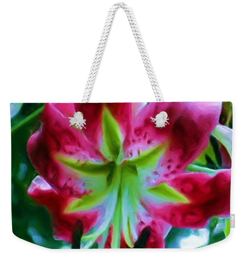 Fine Art Photography Weekender Tote Bag featuring the photograph Stargazer by Patricia Griffin Brett