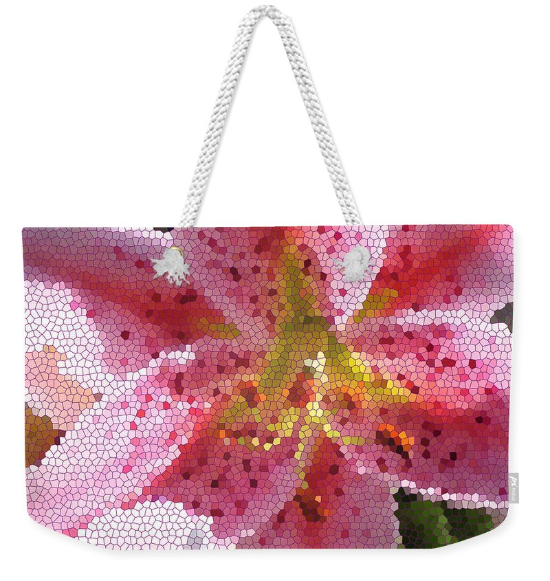 Digital Art Weekender Tote Bag featuring the digital art Stargazer Stained Glass by Barbara Griffin