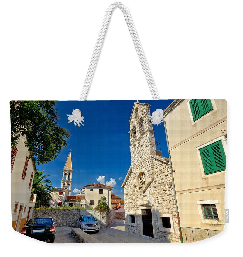 Starigrad Weekender Tote Bag featuring the photograph Stari Grad On Hvar Island Stone Streets by Brch Photography