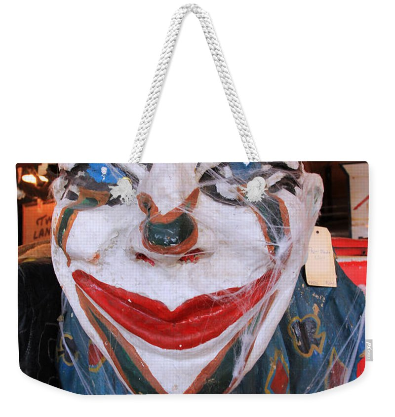 Clown Weekender Tote Bag featuring the photograph Staring Back At You by Jennifer Robin