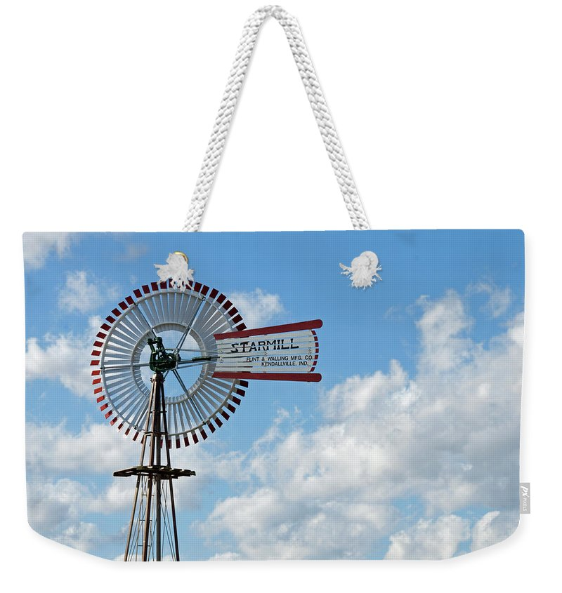 Windmill Weekender Tote Bag featuring the photograph Starmill by David Arment