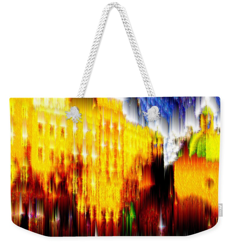 Old World Weekender Tote Bag featuring the digital art Starry Night In Prague by Seth Weaver