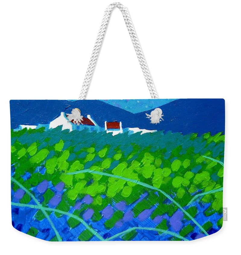 Acrylic Weekender Tote Bag featuring the painting Starry Night In Wicklow by John Nolan