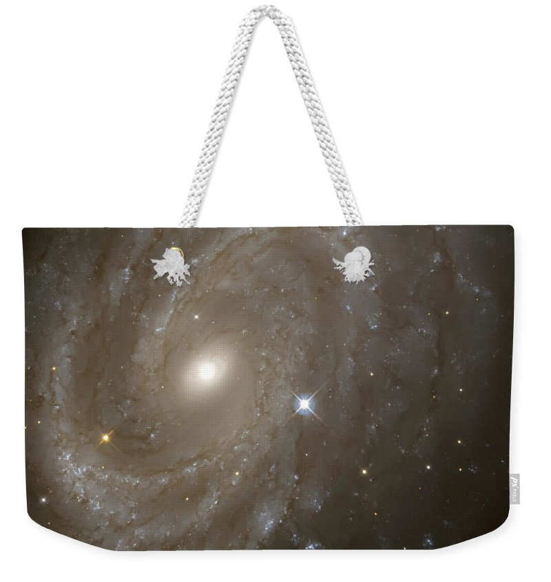 Nebula Weekender Tote Bag featuring the photograph Stars And Spiral Galaxy by Jennifer Rondinelli Reilly - Fine Art Photography