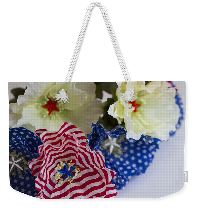 Stars Weekender Tote Bag featuring the photograph Stars And Stripes Bouquet by Kathy Clark