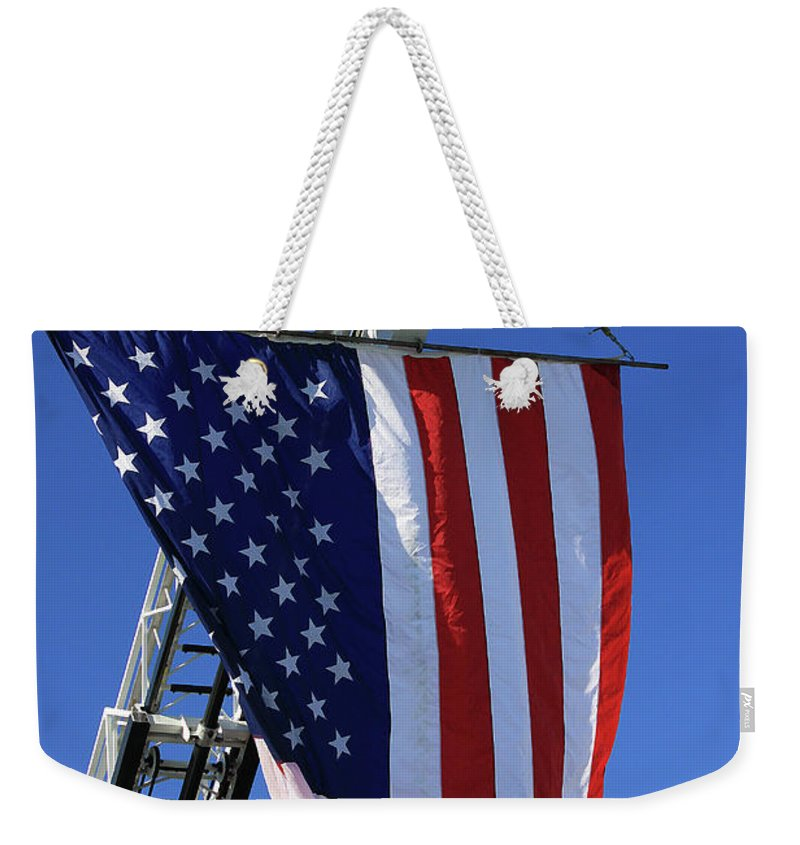 Americana Weekender Tote Bag featuring the photograph Stars And Stripes by Karol Livote