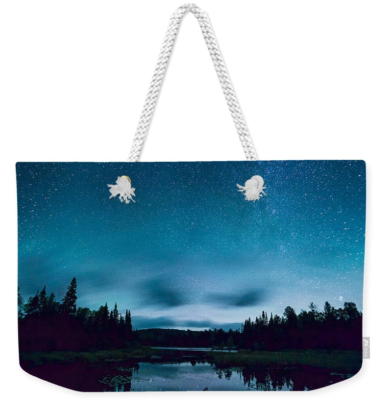 Stars Weekender Tote Bag featuring the photograph Stars Over Lake Vermilion by Craig Voth