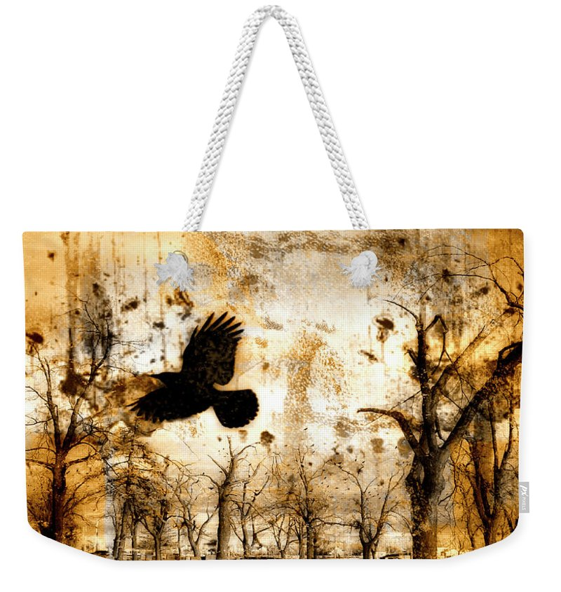 Surrealism Weekender Tote Bag featuring the photograph Start Of Chaos by Gothicrow Images