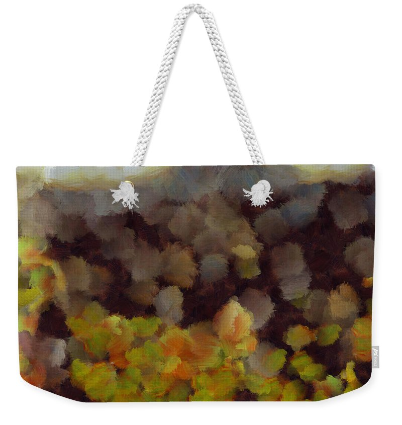 Fire Weekender Tote Bag featuring the photograph Starting A Fire In The Forest by Ashish Agarwal