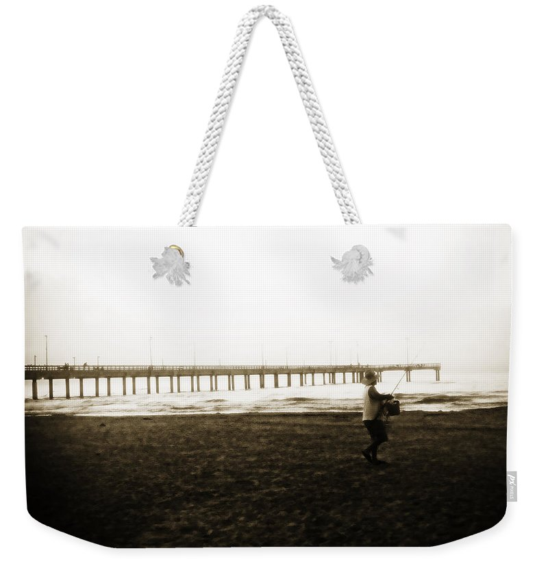 Fish Weekender Tote Bag featuring the photograph Starting Early by Marilyn Hunt