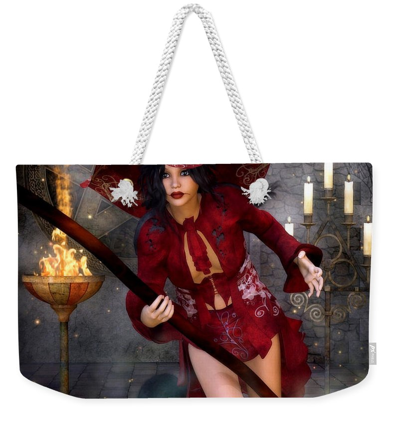 3d Weekender Tote Bag featuring the digital art Starting For A Ride by Jutta Maria Pusl