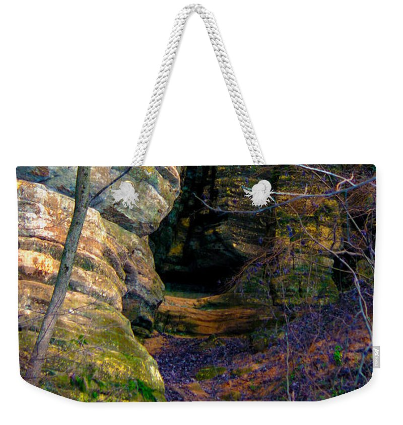 Kooldnala Weekender Tote Bag featuring the photograph Starved Rock No 2 by Alan Look