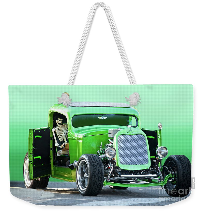 Auto Weekender Tote Bag featuring the photograph 'starv'n Marvin' Hot Rod Pickup by Dave Koontz