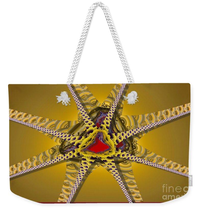 Stars Weekender Tote Bag featuring the digital art Starz by Ron Bissett