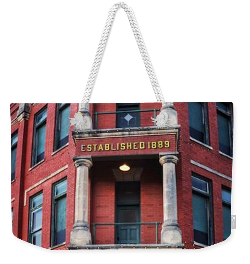 Guthrie Weekender Tote Bag featuring the photograph State Capital Entry by Buck Buchanan