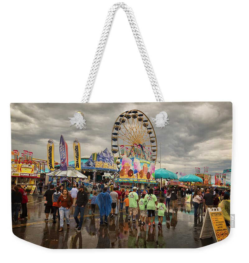 State Weekender Tote Bag featuring the photograph State Fair Of Oklahoma by Ricky Barnard