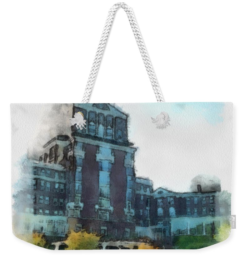 Homestead Weekender Tote Bag featuring the painting Stately Beauty by Paulette B Wright
