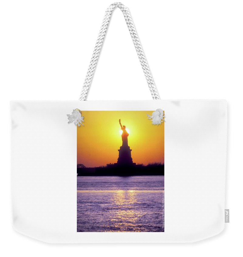 Statue Of Liberty Weekender Tote Bag featuring the photograph Statue Of Liberty by Mark Ivins