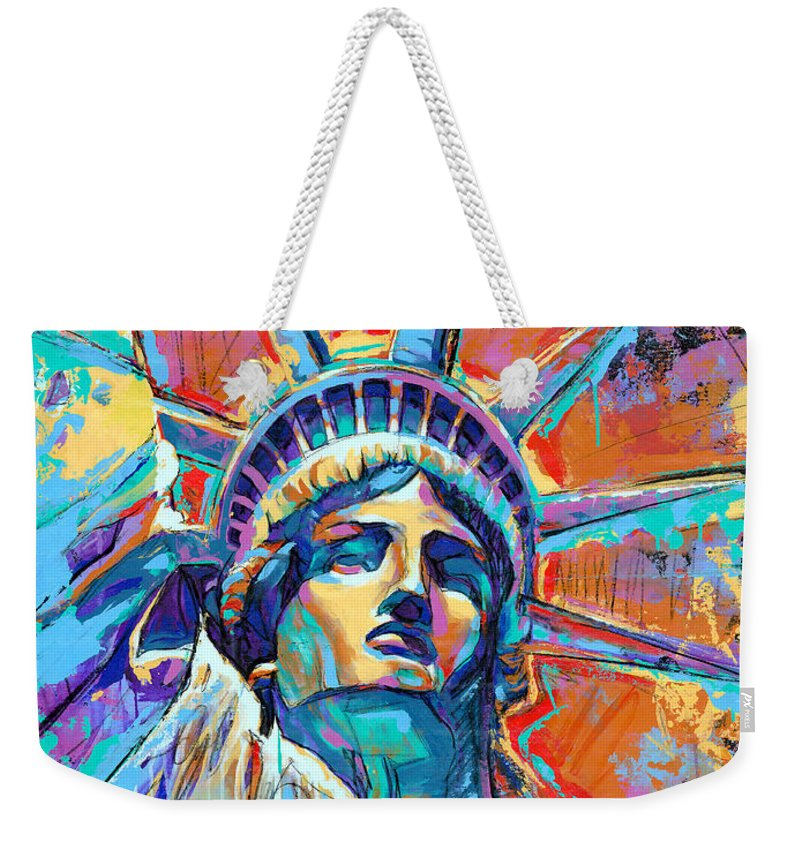 Statue Of Liberty Weekender Tote Bags