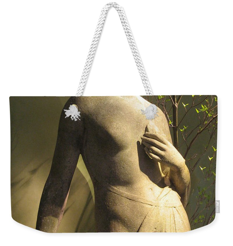 Statue Weekender Tote Bag featuring the photograph Statuesque by Jessica Jenney