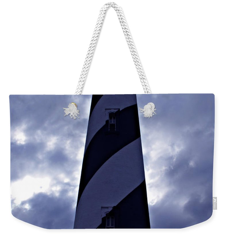 St.augustine Weekender Tote Bag featuring the photograph St.augustine Light House by Bob Johnson