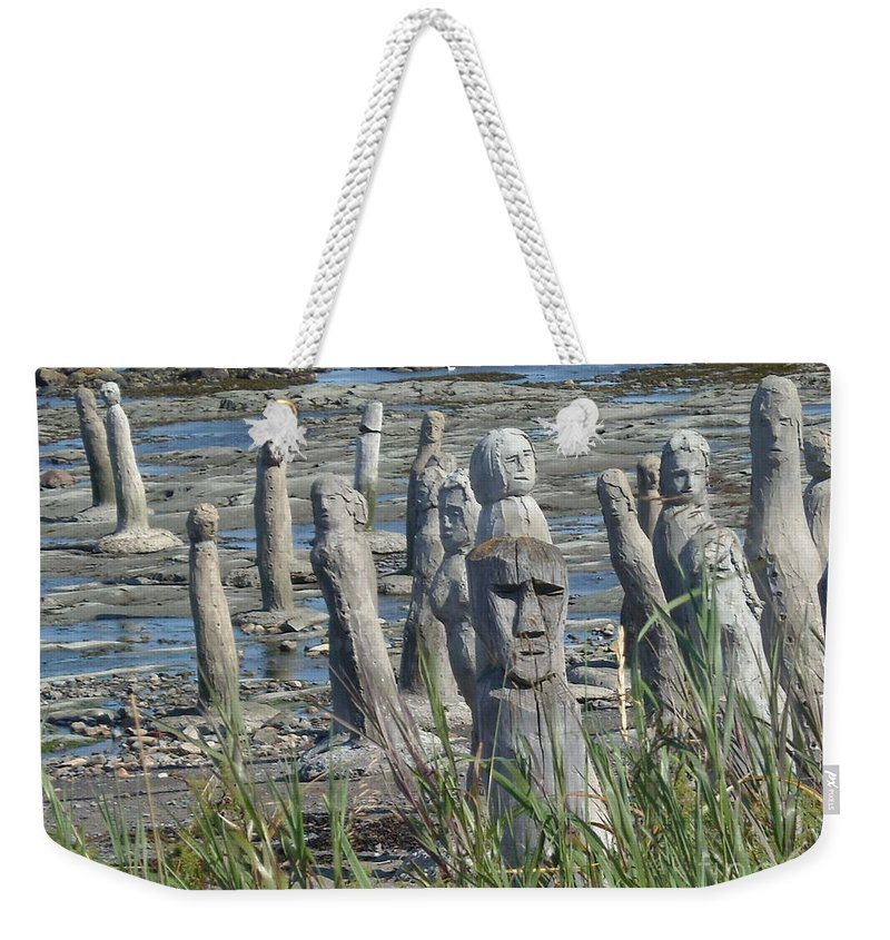 Landscape Weekender Tote Bag featuring the photograph Ste Flavie by Line Gagne