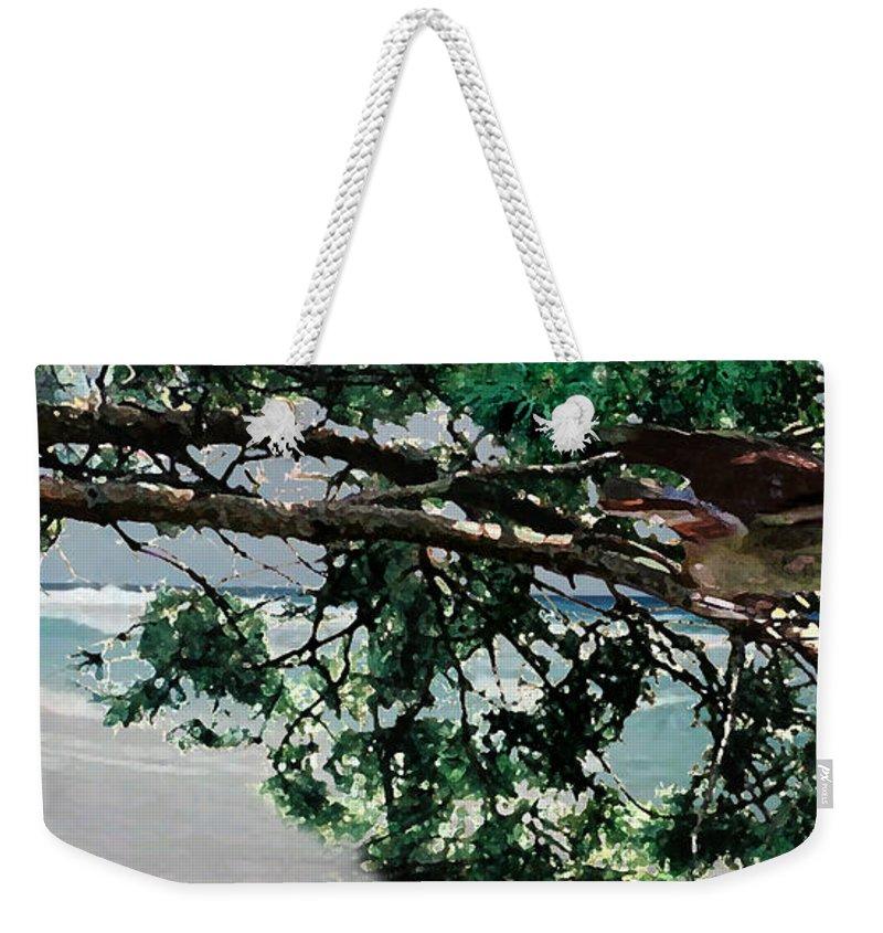 Landscape Weekender Tote Bag featuring the painting Stealth by Steve Karol