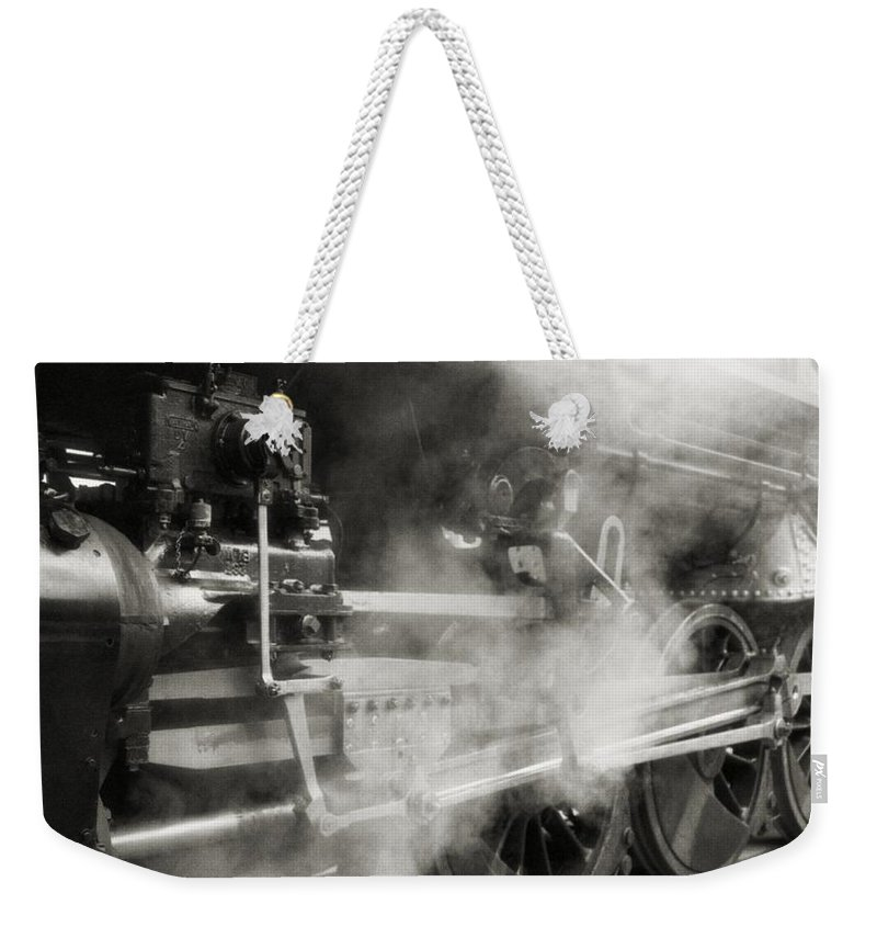 Trains Weekender Tote Bag featuring the photograph Steam Power by Richard Rizzo