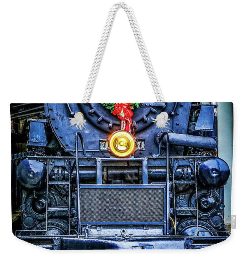 Steam Locomotive Weekender Tote Bag featuring the photograph Steam Tidings by Dale R Carlson