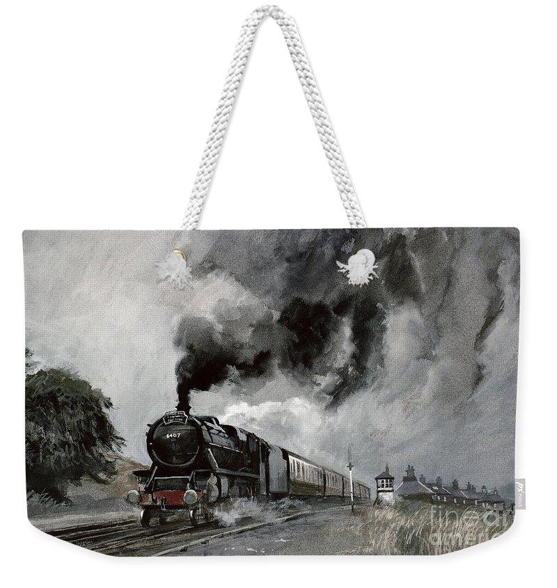 Railway Locomotive Weekender Tote Bags