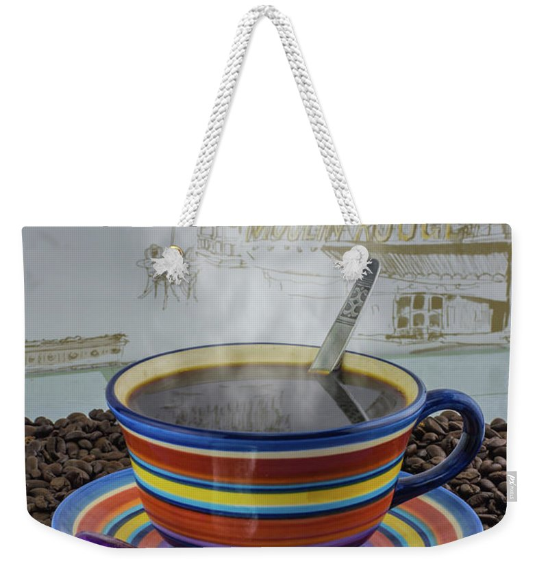 Bean Weekender Tote Bag featuring the photograph Steaming Coffee by F Helm
