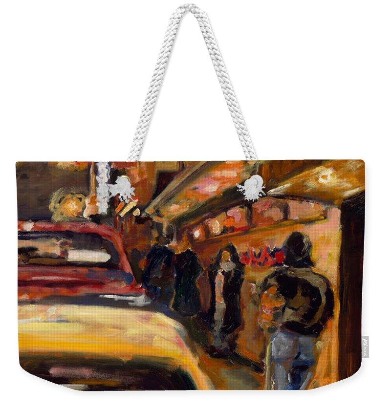 Rob Reeves Weekender Tote Bag featuring the painting Steb's Amusements by Robert Reeves