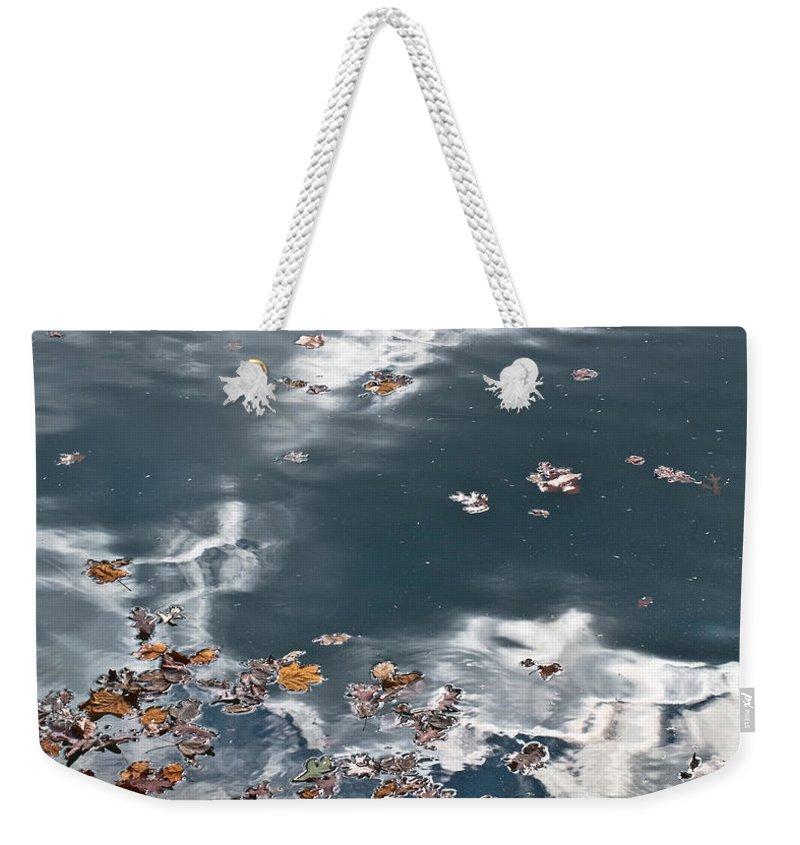 Steel Weekender Tote Bag featuring the photograph Steel Sky On Lake by Douglas Barnett