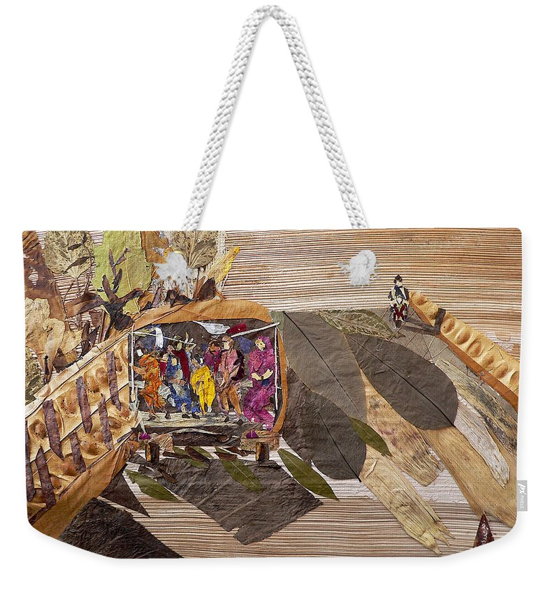 Tempo Drive To City Weekender Tote Bag featuring the mixed media Steep Riding by Basant soni