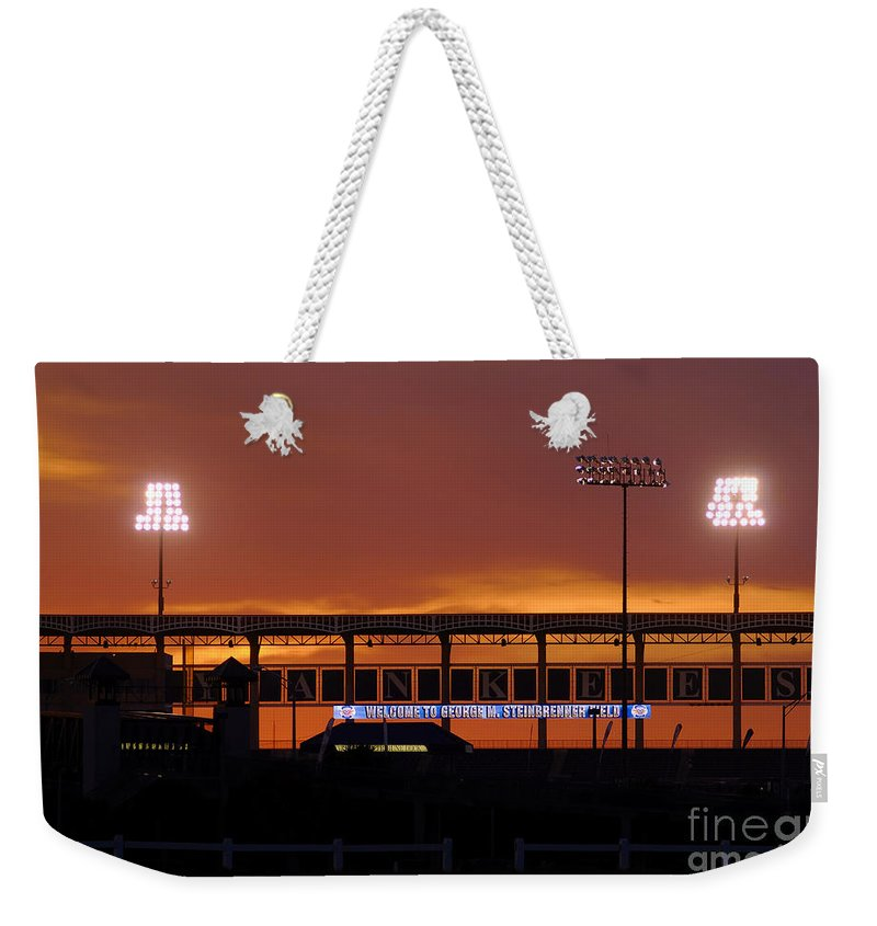 Steinbrenner Field Weekender Tote Bag featuring the photograph Steinbrenner Field by David Lee Thompson
