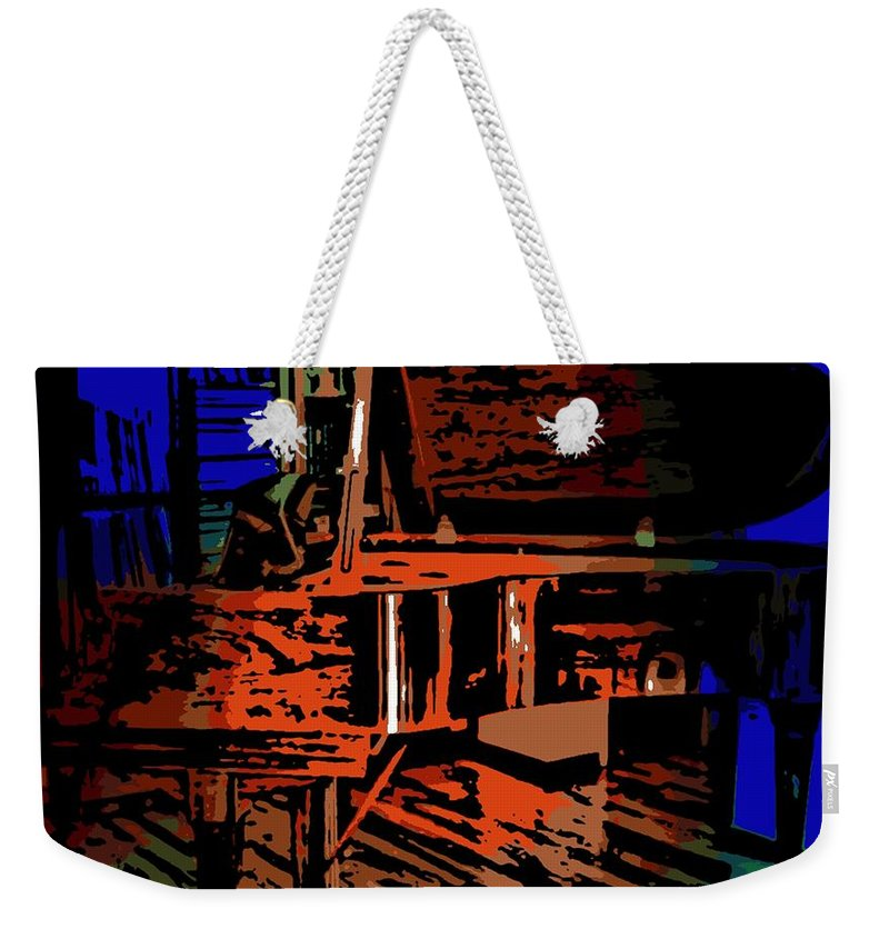 Steinway Weekender Tote Bag featuring the photograph Steinway Piano by George Pedro