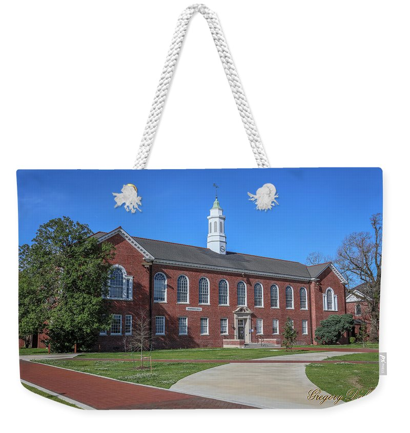 Ul Weekender Tote Bag featuring the photograph Stephens Hall 2 by Gregory Daley MPSA
