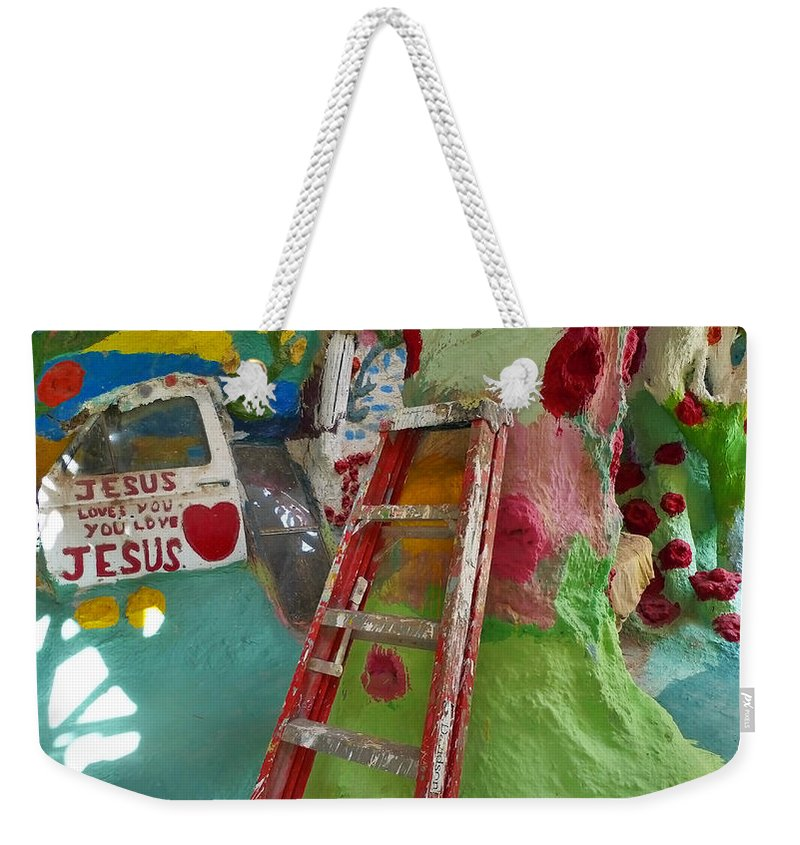 Stepladder To Heaven Weekender Tote Bag featuring the photograph Stepladder To Heaven by Skip Hunt