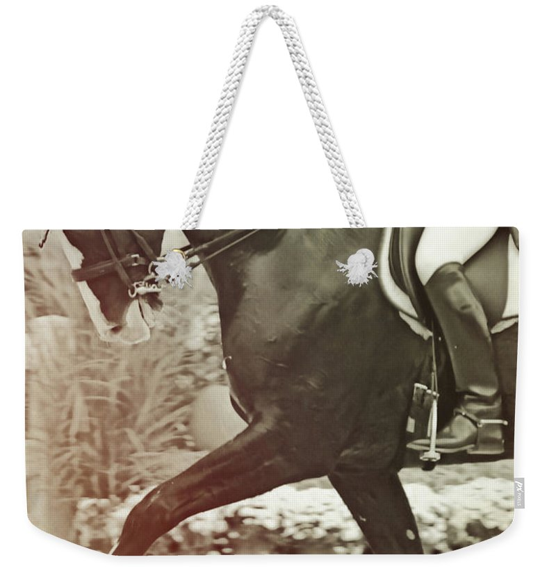 Show Weekender Tote Bag featuring the photograph Stepping Out by JAMART Photography