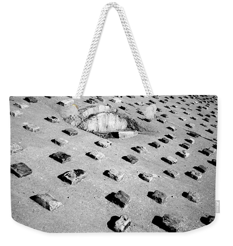 Pattern Weekender Tote Bag featuring the photograph Stepping Stones by Deborah Crew-Johnson