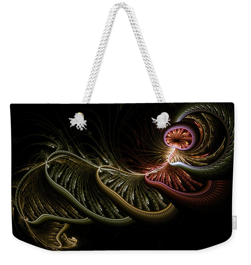 Abstract Weekender Tote Bag featuring the digital art Stepping Through Time by Casey Kotas