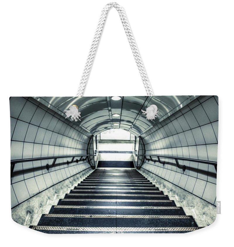 London Tube Weekender Tote Bags