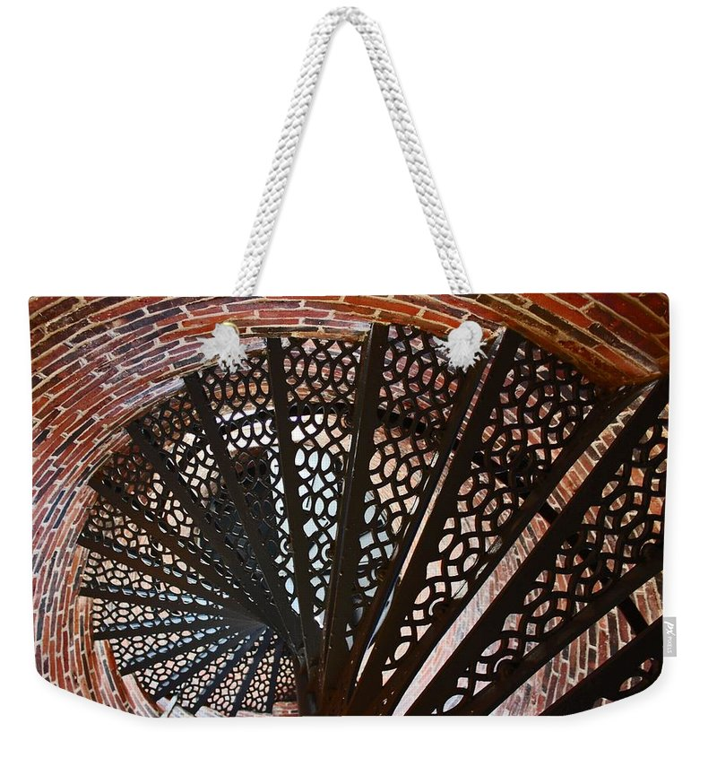 Staircase Weekender Tote Bag featuring the photograph Steps by Brenda Spittle
