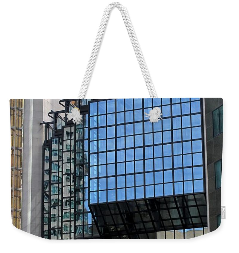 Royal Bank Tower Weekender Tote Bag featuring the photograph Steps by Ian MacDonald